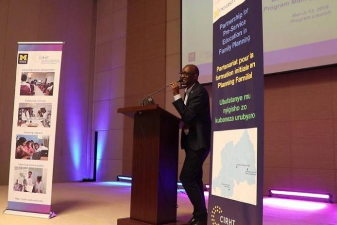 Dr. Stephen Rulisa, Dean of the University of Rwanda School of Medicine and Pharmacy