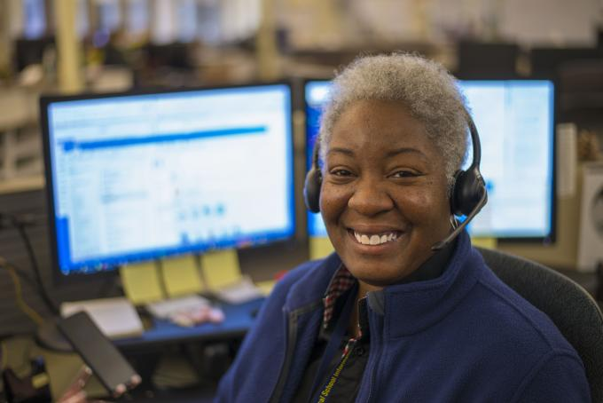 HITS service desk staff member