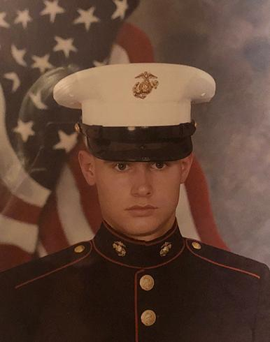 US Marine Timothy Alhgren