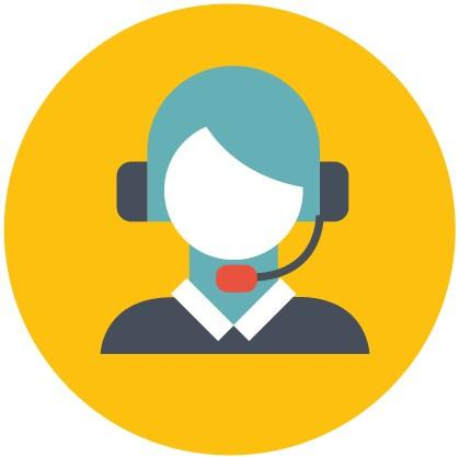 Person wearing a headset