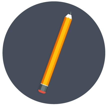 Yellow pencil on gray background